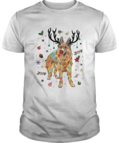Old German Shepherd Dog Reindeer Christmas Joy  Unisex
