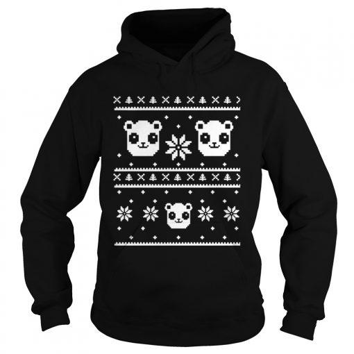 Panda Bear ugly Christmas  Hoodie