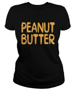 Peanut Butter Halloween Matching Costume jelly TShirt Classic Ladies
