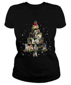 Pyrenean Shepherd Christmas Tree TShirt Classic Ladies