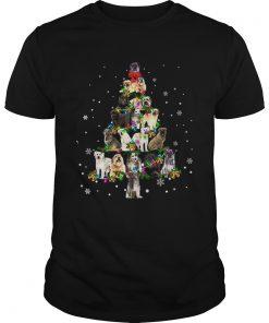 Pyrenean Shepherd Christmas Tree TShirt Unisex
