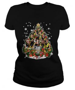 Richmond Tigers Players Christmas Tree Shirt Classic Ladies