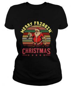 Santa Claus Merry friggin christmas sunset  Classic Ladies