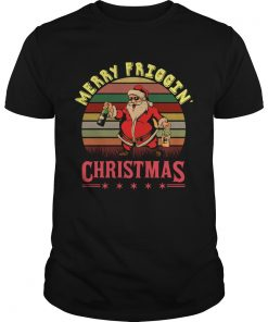Santa Claus Merry friggin christmas sunset  Unisex