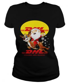 Santa Claus Riding Reindeer DHL Excellence Simply Delivered  Classic Ladies