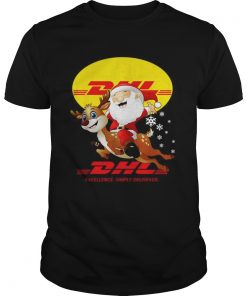 Santa Claus Riding Reindeer DHL Excellence Simply Delivered  Unisex