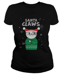 Santa Claws Cat Ugly Christmas  Classic Ladies