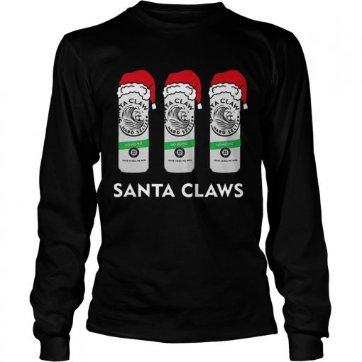 Santa Claws hard Seltzer ho ho ho  LongSleeve