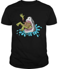 Shark Eats Zombie Funny Halloween Boys Girls Kids  Unisex