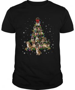 Shihpoo Christmas Tree TShirt Unisex