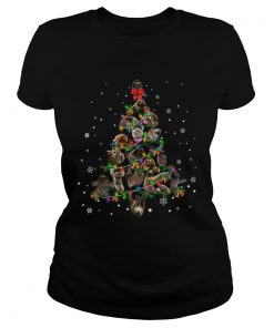 Sloth Christmas Tree TShirt Classic Ladies