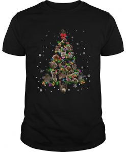 Sloth Christmas Tree TShirt Unisex