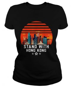 Stand With Hong Kong Sunset  Classic Ladies