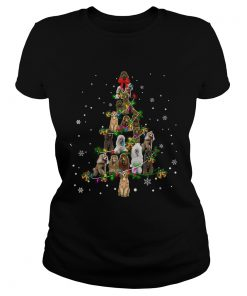 Standard Poodle dog Christmas Tree TShirt Classic Ladies