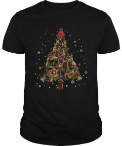 Sussex Spaniel Christmas Tree TShirt Unisex