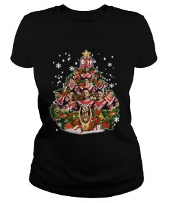 Sydney Roosters Players Christmas Tree Shirt Classic Ladies