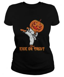 Taekwondo Kick Or Treat Pumpkin Halloween Shirt Classic Ladies