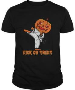 Taekwondo Kick Or Treat Pumpkin Halloween Shirt Unisex