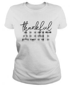 Thanksgiving Thankful Aunt Funny Mimi Gift TShirt Classic Ladies