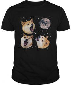 Three Doge Meme Night Howling at the Moon Christmas  Unisex