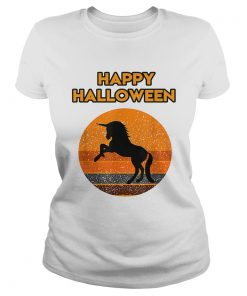 Top Halloween with a beautiful black Unicorn  Classic Ladies