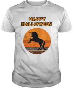 Top Halloween with a beautiful black Unicorn  Unisex
