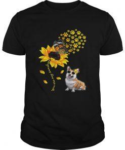 Top You Are My Sunshine Sunflower Corgi for men woman  Unisex