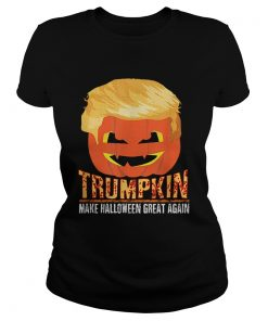 Trumpkin Pumpkin Politics Halloween Ironic Costume Fun Gift  Classic Ladies