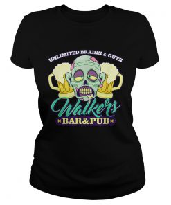 Walkers Bar And Pub Funny Zombie Halloween  Classic Ladies