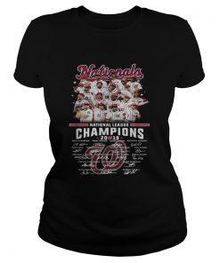 Washington Nationals league champions 2019 signature  Classic Ladies