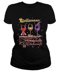 Wine Glass Of Witchcraft Halloween Funny  Classic Ladies