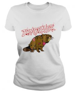 Zombie Animal Zombeaver Wild Life Halloween Tee  Classic Ladies