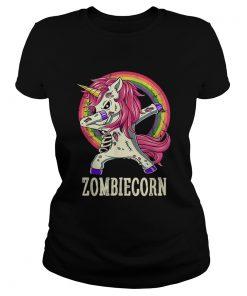 Zombiecorn Zombie Unicorn Dab Dance Halloween Gift  Classic Ladies
