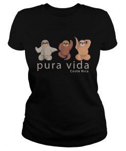 1572872045Costa Rica Sloths Souvenir Pura Vida  Classic Ladies