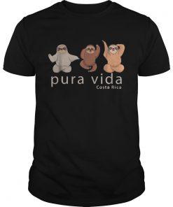 1572872045Costa Rica Sloths Souvenir Pura Vida  Unisex