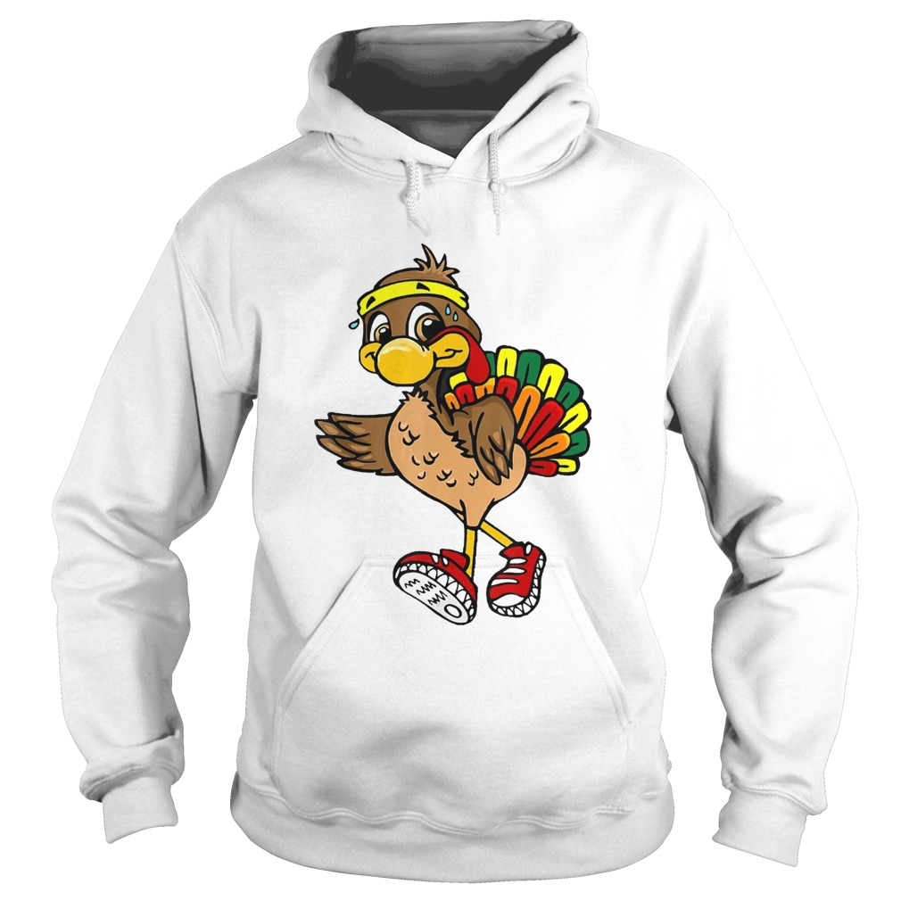 5k Turkey Trot Squad Pilgrim Thanksgiving Running Hoodie