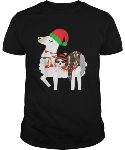Beautiful Christmas Ugly Sweaters Sloth Riding Llama Hat Alpaca  Unisex