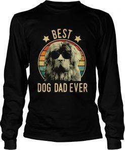 Best Dog Dad Ever Newfoundland Dog Vintage  LongSleeve