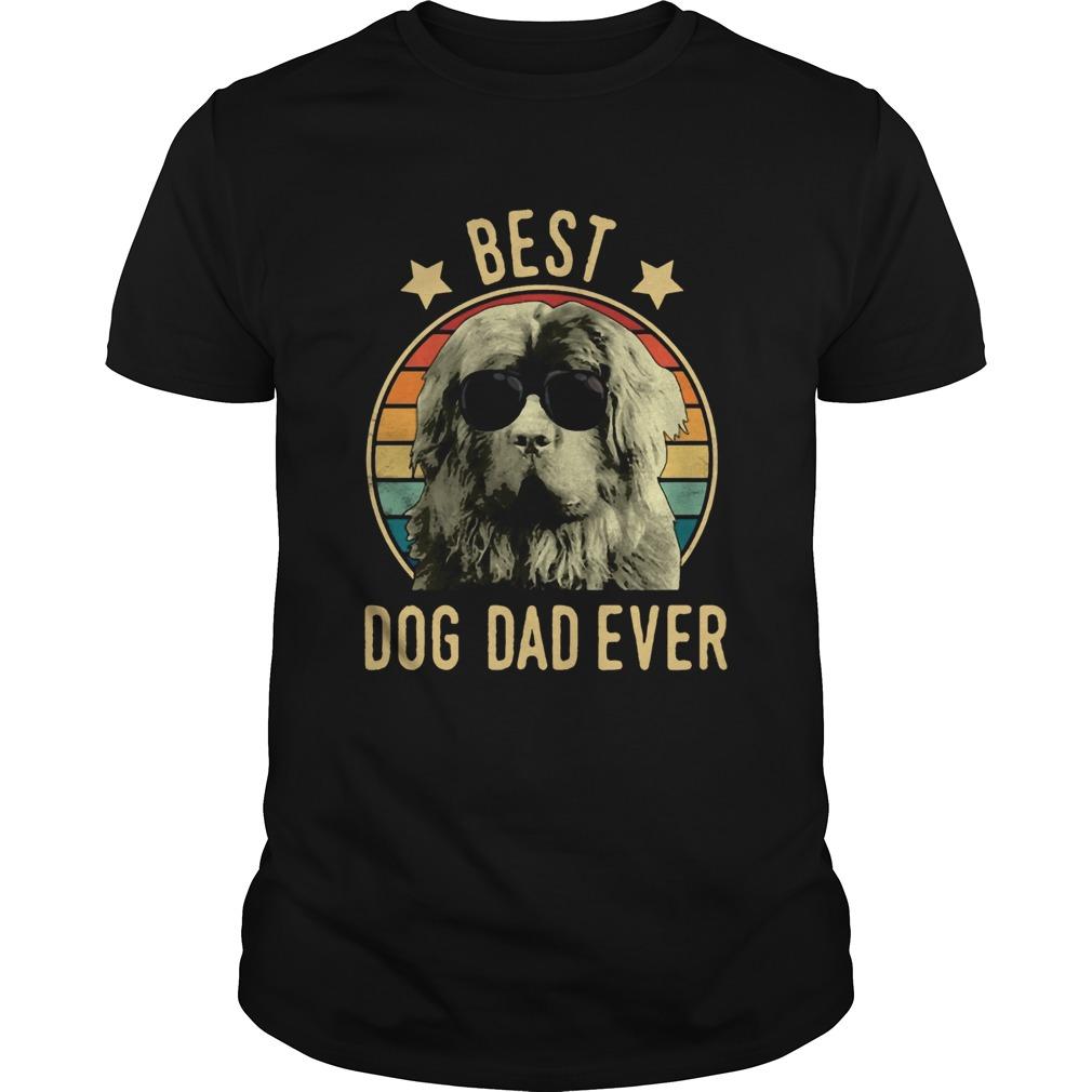 Best Dog Dad Ever Newfoundland Dog Vintage Unisex