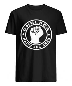 Chelsea Football Keep The Faith Logo  Classic Men's T-shirt