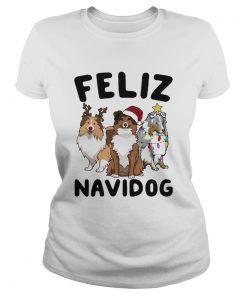 Collie Feliz navidog Christmas  Classic Ladies