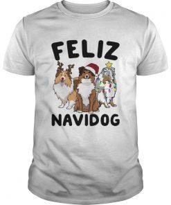 Collie Feliz navidog Christmas  Unisex