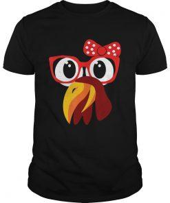 Cute Turkey Face With GlassesBow Nerdy  Unisex