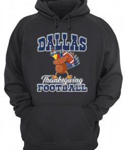 Dallas Cowboys Thanksgiving Day Turkey Playing Football  Unisex Hoodie
