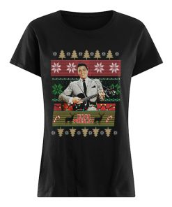 Elvis Presley Knitting Pattern Christmas  Classic Women's T-shirt