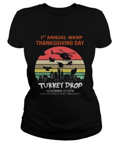 First Annual Wkrp Thanksgiving Day Turkey Drop Sunrise  Classic Ladies