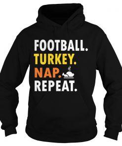 Football Turkey Nap Repeat Vintage  Hoodie