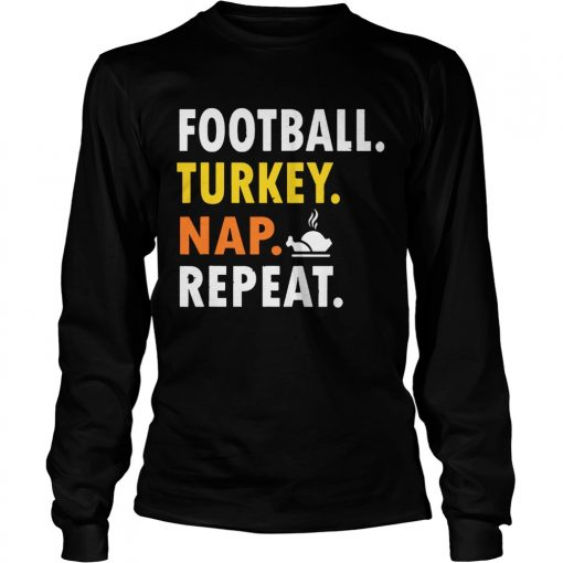 Football Turkey Nap Repeat Vintage  LongSleeve