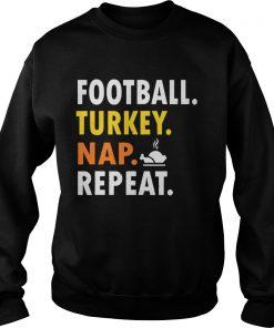 Football Turkey Nap Repeat Vintage  Sweatshirt