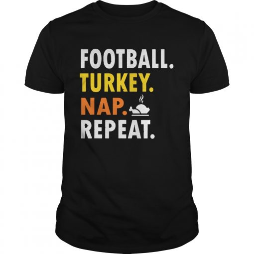 Football Turkey Nap Repeat Vintage  Unisex